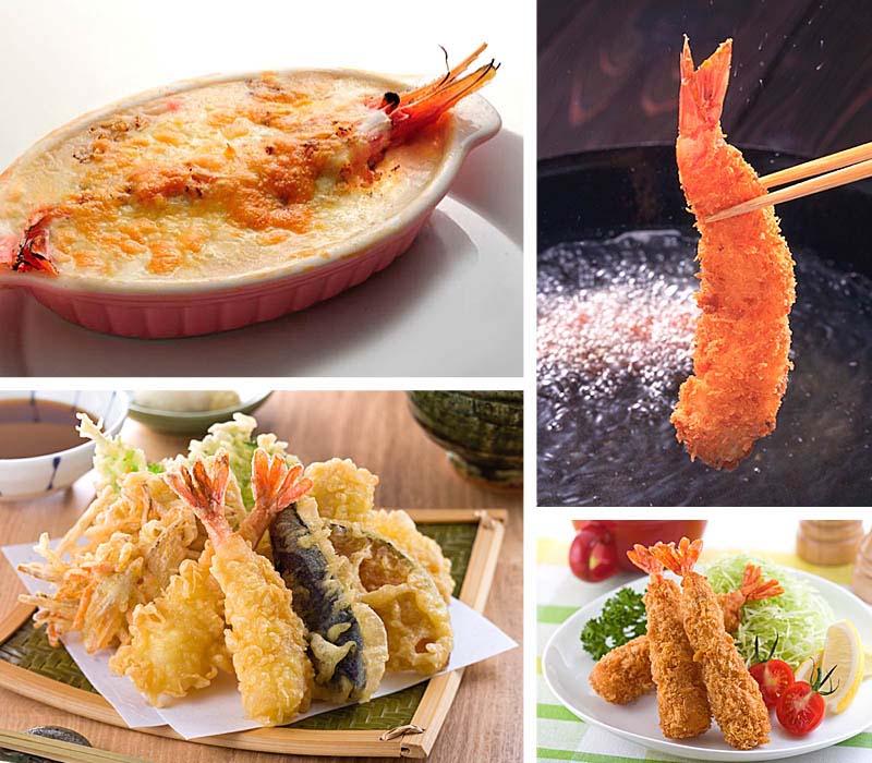 ぼたんえびのお寿司・エビフライ・天ぷら