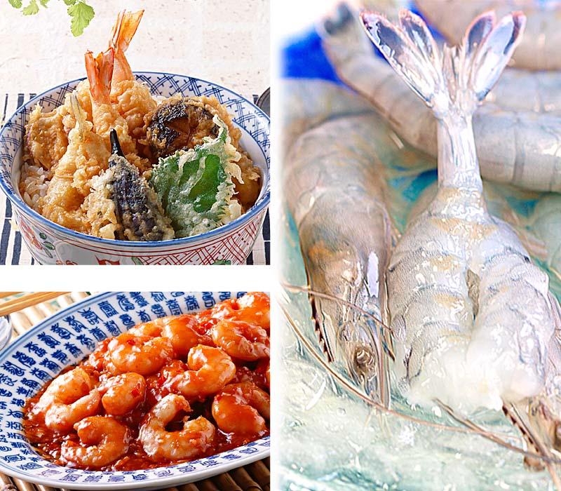 えびしゃぶがおすすめ。海老の料理