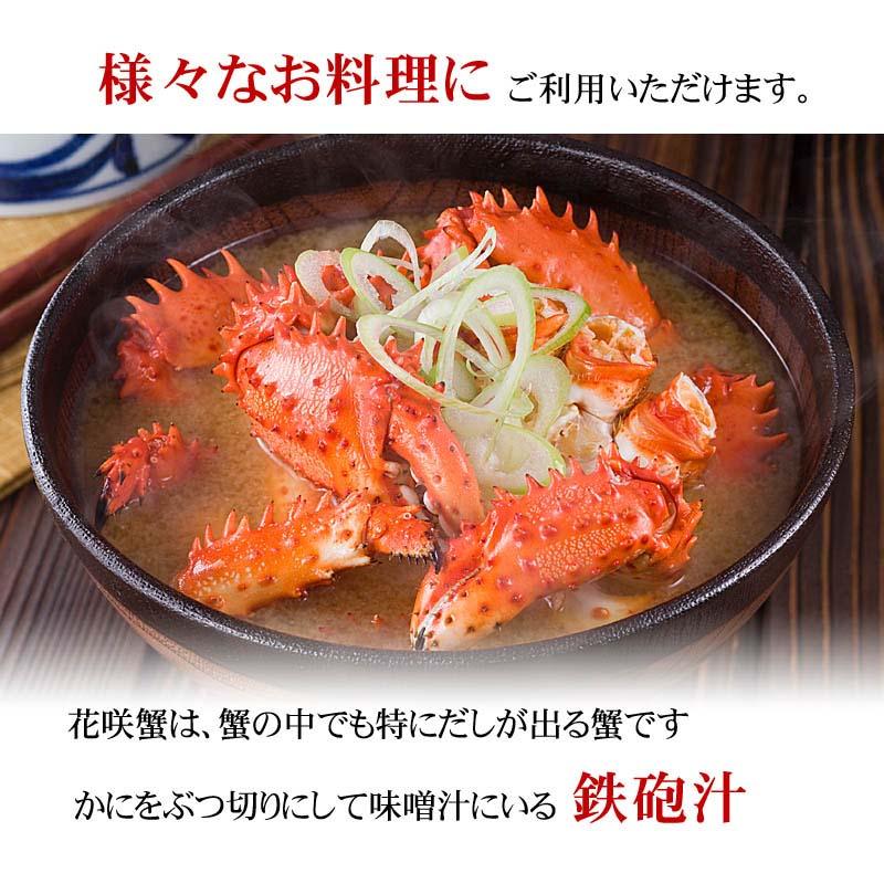 活花咲ガニ オス 1kg前後 1尾入り 北海道産の活け花咲蟹
