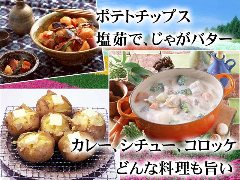 ジャガバター、カレーなど、さまざまの料理にご利用ください