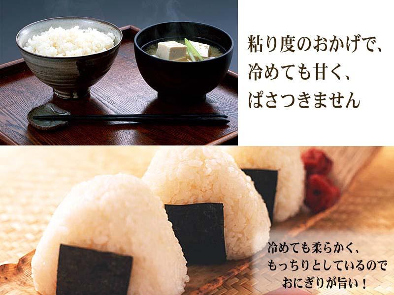 粘りのあるお米、おぼろづき