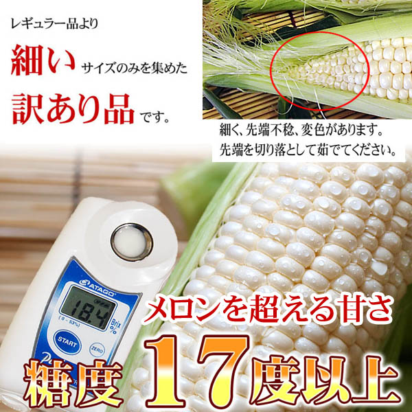 糖度17度の甘いトウモロコシ