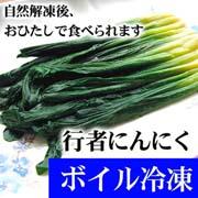 行者にんにく アイヌネギ 500g ボイル冷凍 北海道産行者ニンニク