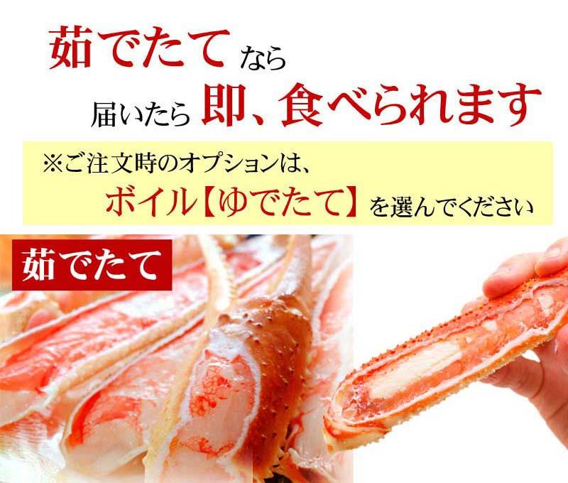 活ずわい蟹を茹でたてでお届け